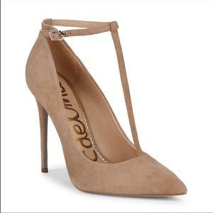 NWOB Sam Edelman Suede Leather Heels sz6.5